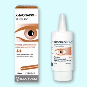 Чем заменить глазные капли Хилопарин-Комод