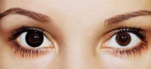 Цветные карие контактные линзы