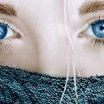 Голубые и синие линзы для карих глаз