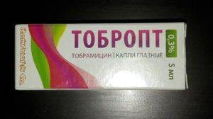 Глазные капли Тобропт