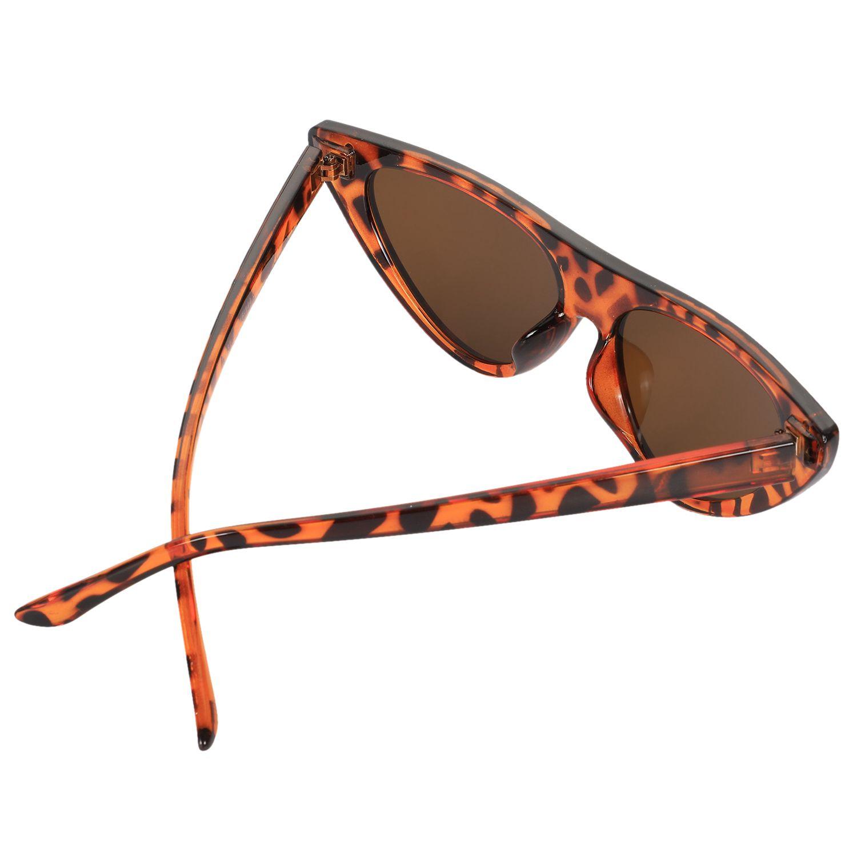 Треугольная оправа с леопардовым узором