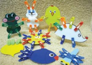 прищепки игра для детей с амблиопией